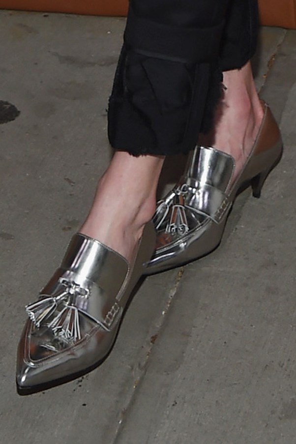 Kate Bosworth's silver brogues