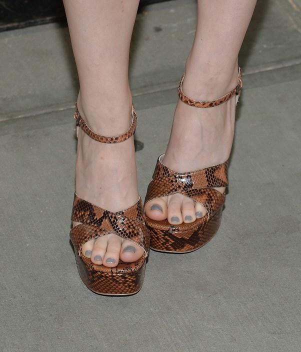 Kate Mara's platform sandals