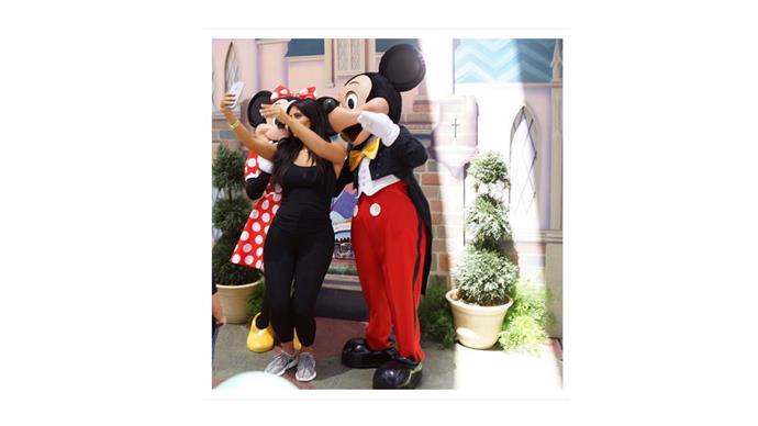 "Pictured: <br><br><a href=""https://instagram.com/p/4CNjqiuS3W/"">Kim Kardashian</a> took her Yeezys to Disneyland last week. As you do."