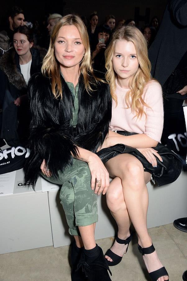 <strong>Kate and Lottie Moss </strong><br>She's got big shoes to fill, but with an older sister like Kate Moss, little Lottie was always destined for stardom. The 17-year-old even landed a Calvin Klein campaign, paying homage to her iconic half-sister's breakthrough moment.