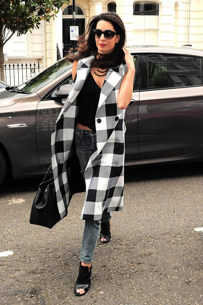 <strong>What:</strong> Tome sleeveless trench coat, Citizens of Humanity jeans, Heidi London sunglasses and Dior bag <strong>When:</strong> June 23, 2015 <strong>Where:</strong> London