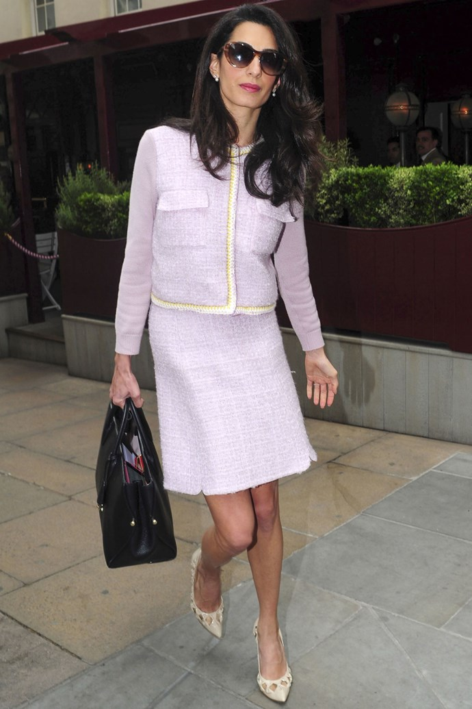 <strong>What:</strong> Giambattista Valli suit, Heidi London sunglasses and Dior bag <strong>When: </strong>June 15, 2015 <strong>Where:</strong> London