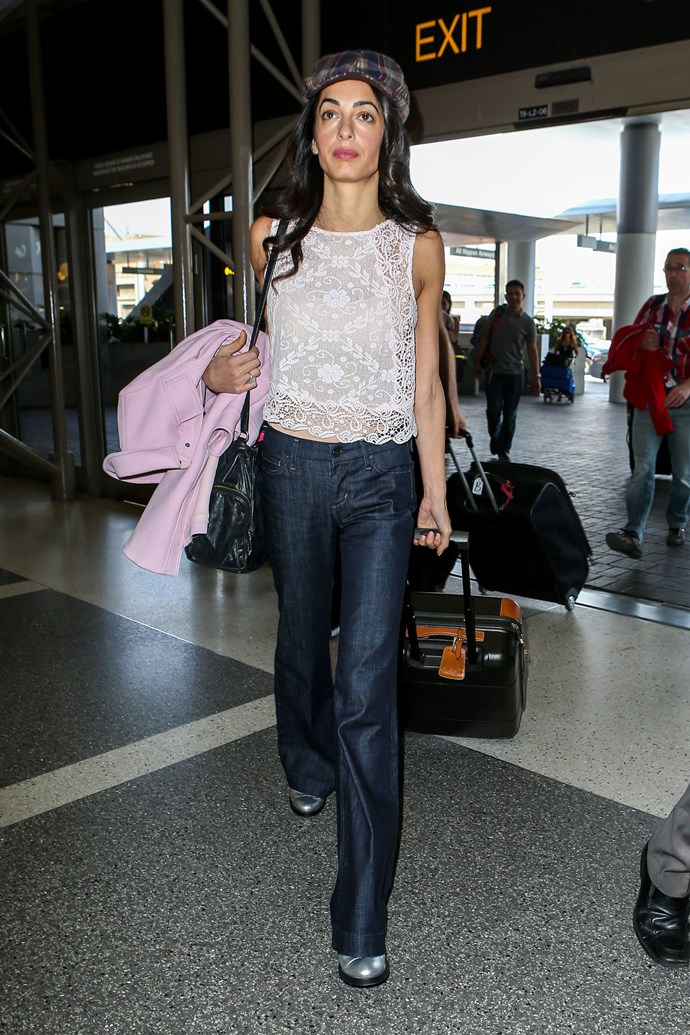 <strong>What:</strong> Giambattista Valli coat, Miu Miu bag, Citizens of Humanity jeans <strong>When:</strong> May 11, 2015 <strong>Where:</strong> LAX airport