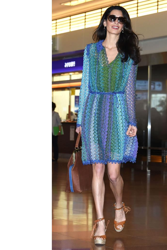 <strong>What:</strong> Missoni dress <strong>When:</strong> May 24, 2015 <strong>Where: </strong>Haneda Airport in Tokyo
