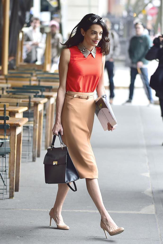 <strong>What: </strong>Gucci blouse and Balenciaga bag <strong>When:</strong> April 7, 2015 <strong>Where: </strong>The West Village in NYC
