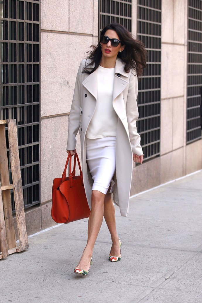 <strong>What:</strong> Tod's bag, Oscar da la Renta shoes <strong>When: </strong>April 6, 2015 <strong>Where: </strong>At Columbia University in New York City