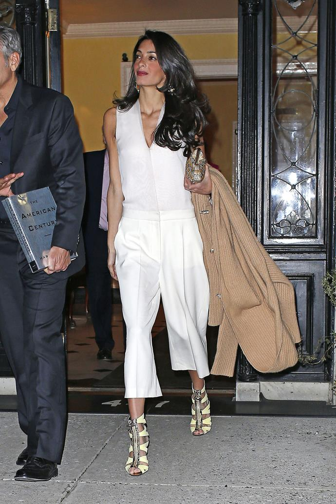 <strong>What:</strong> Versace shoes <strong>When:</strong> March 27, 2015 <strong>Where: </strong>Leaving dinner at Tina Brown's home in NYC