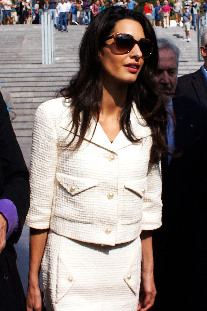 <strong>What:</strong> Chanel suit <strong>When:</strong> October 15, 2014 <strong>Where:</strong> New Acropolis Museum, Athens