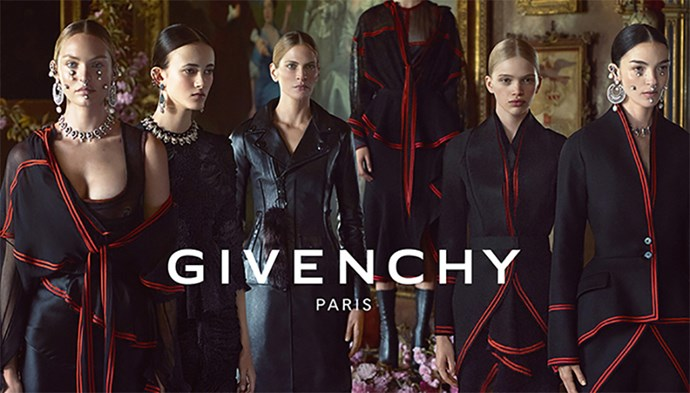 <strong>What: Givenchy <br>Who: </strong> Mariacarla Boscono, Candice Swanepoel, Frankie Rayder, Greta Varlese, Isis Bataglia and Stella Lucia Deopito photographed by Mert & Marcus.