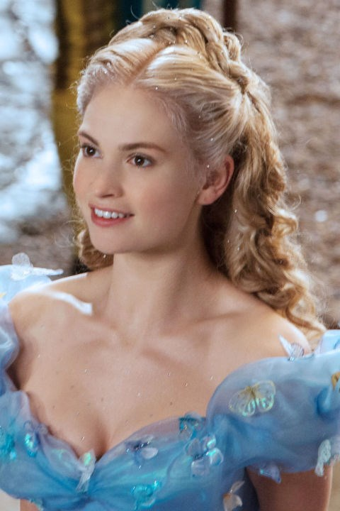 <strong>Cinderella </strong> <br>Makeup artist Naomi Donne covered Lily James in crystals as part of the actress' transformation into Disney's most iconic princess.