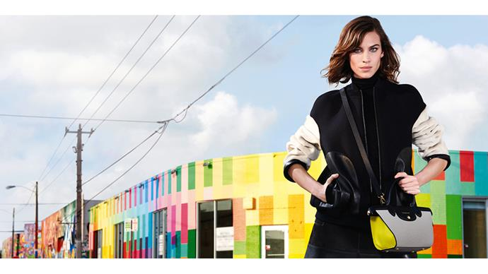 This is Alexa Chung's fourth campaign for Longchamp. Shot in the Wynwood District of Miami by Max Vadukul.