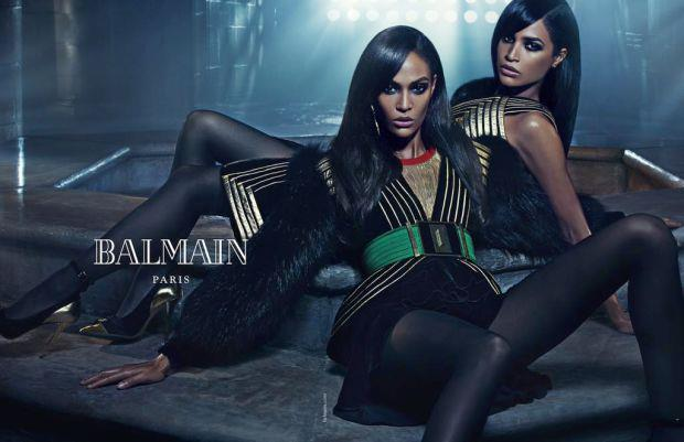 Balmain sister act #3: Joan and Erika smalls are the third sibling duo in Balmain's autumn/winter 2015 campaign.
