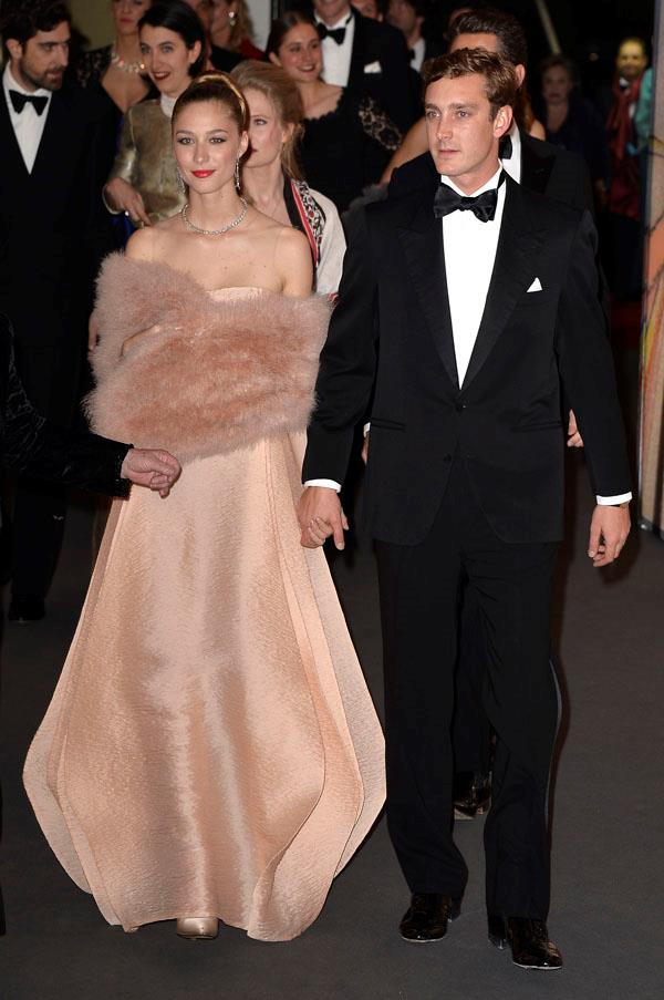 Borromeo is a vision in blush pink at the Rose Ball in aid of the Princess Grace Foundation in Monaco last year.