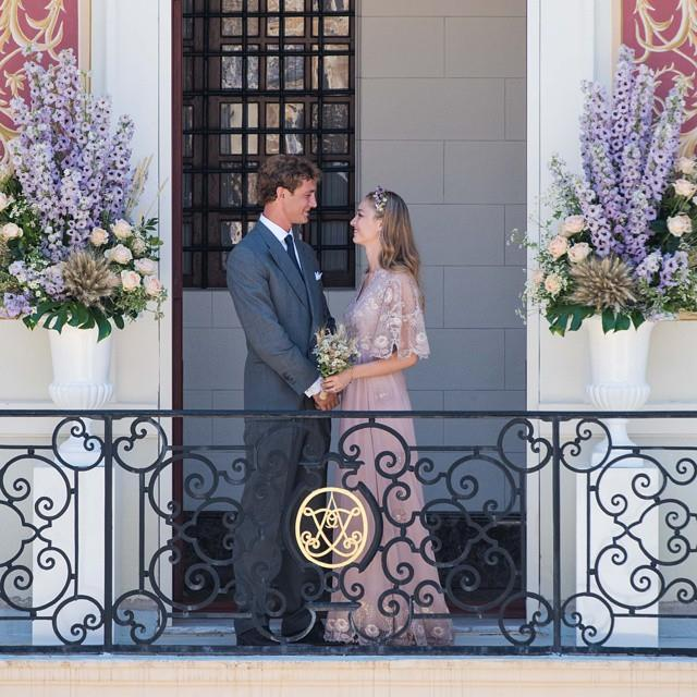Journalist and Italian aristocrat Beatrice Borromeo wed her handsome husband and Monaco royal Pierre Casiraghi in Valentino haute couture.