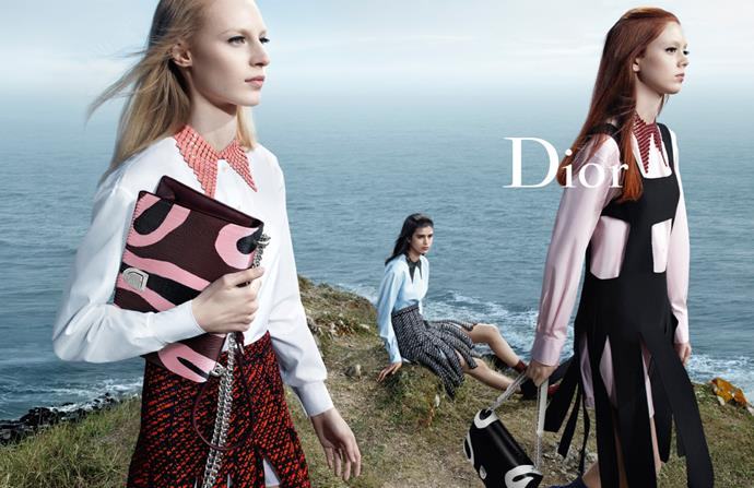 <strong>Dior: </strong> <br><br> <strong>Model:</strong> Julia Nobis, Natalie Westling and Mica Arganaraz <br><br> <strong>Photographer:</strong> Willy Vanderperre