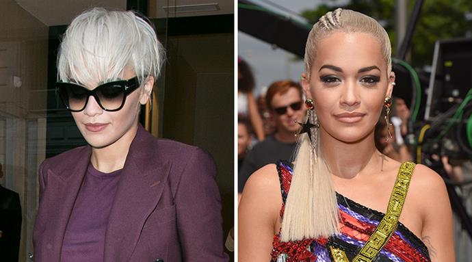 <strong>Rita Ora</strong> <br>The singer ditched her punky white-blonde pixie cut and went back to a warmer colour and chest-skimming length for <em>The X Factor</em> auditions in London. We loved the short look, but she proves that long can be so much more versatile.
