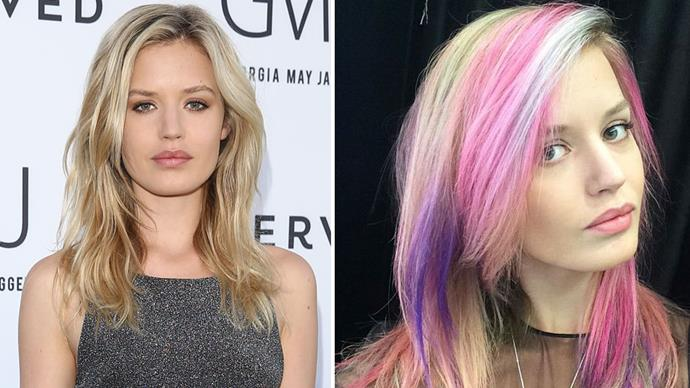 <strong>Georgia May Jagger</strong><br>We've already tried the sand art hair trend here at BAZAAR, and Jagger's interpretation of the daring rainbow look is no disappointment. The model manages to pull off the My Little Pony-inspired hues effortlessly in a look that's perfect for the summer.