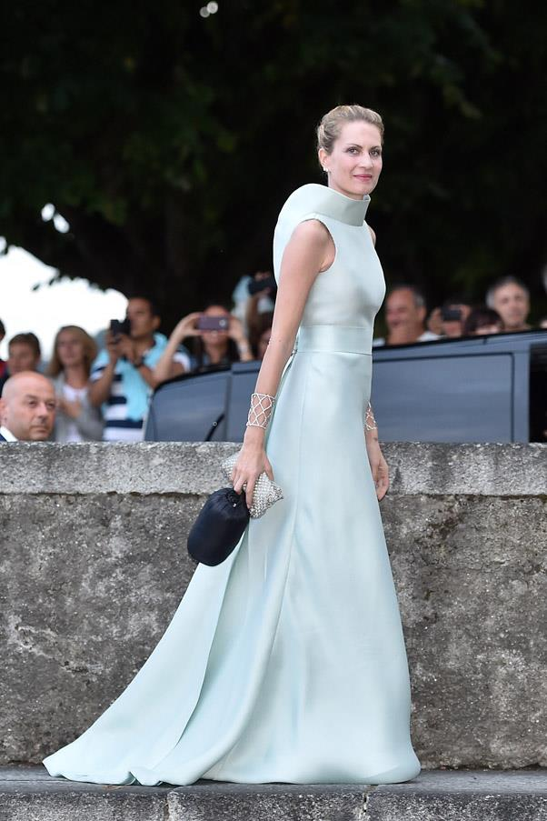 Beatrice's eldest half-sister, Isabella Borromeo, wore an incredible pale blue gown to the reception.