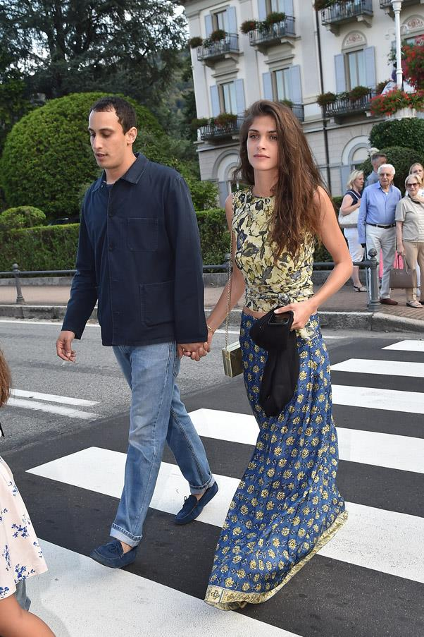 Model Elisa Sednaoui with husband Alexander Dellal.
