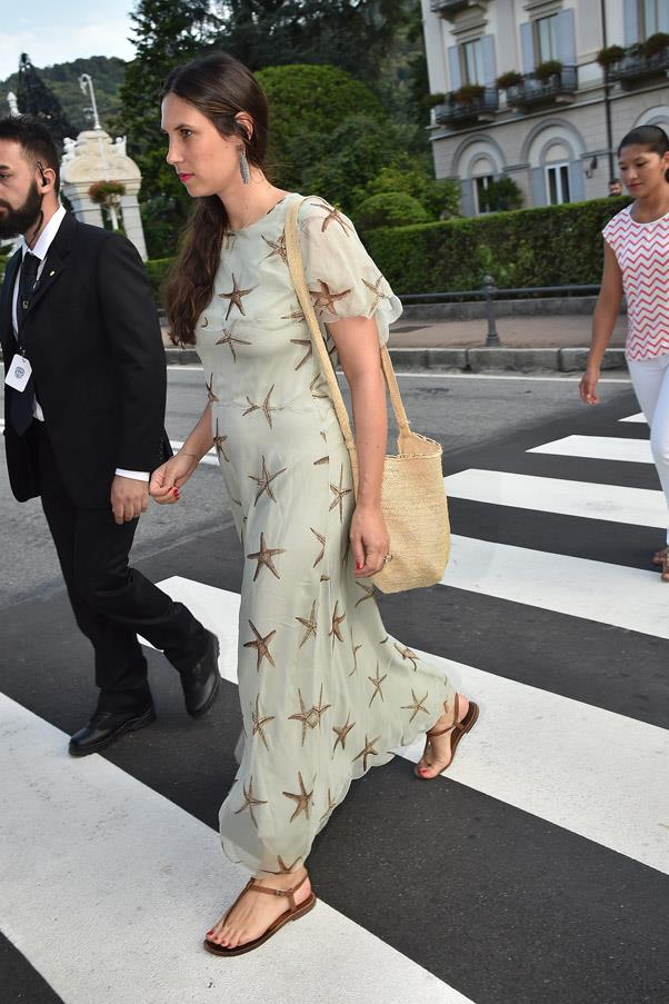Tatiana Santo Domingo, the wife of the groom's brother Andrea Casiraghi, was also in attendance at the wedding.