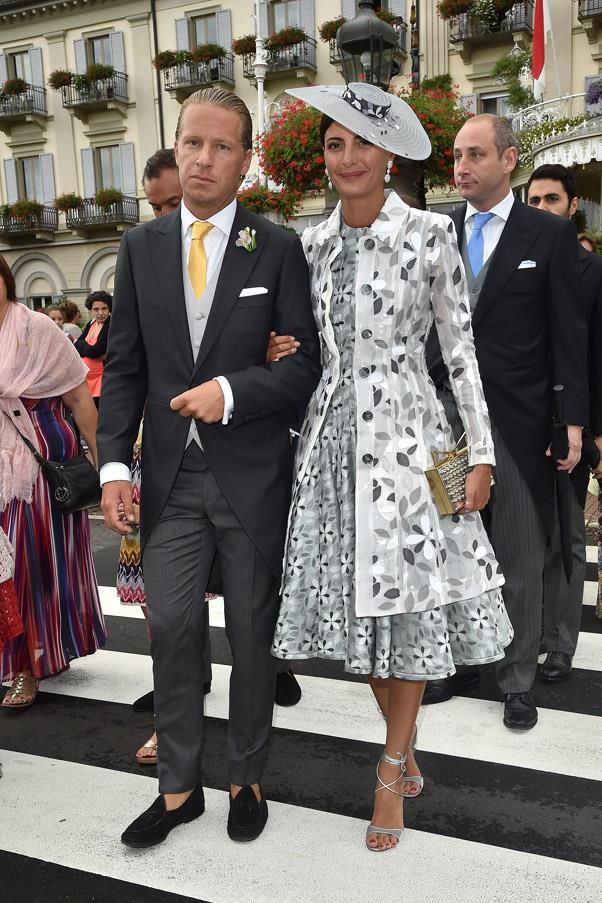 Street style star Giovanna Battaglia with new boyfriend Oscar Engelbert.