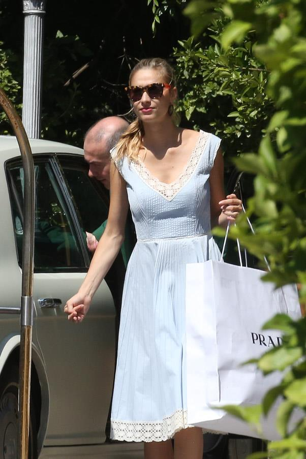 Beatrice leaves her family hotel after her wedding weekend in Stresa, Italy.