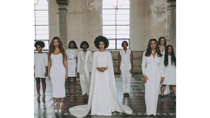 <strong> Beyoncé </strong> <br><br>Queen Bey was all in white for sister Solange's nuptials.