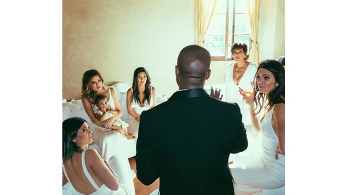 <strong>The Kardashians</strong> <br><br>The sisters were our in force to celebrate the wedding of Kim.