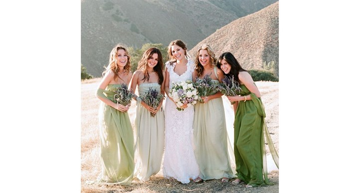 <strong>Rachel Bilson</strong></a> <br><br>Rachel looked absolutely stunning in a sea of ombré green.