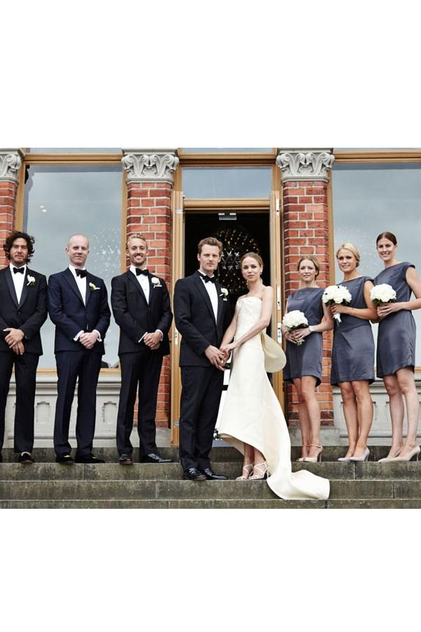 "<a href=""http://www.harpersbazaar.com/celebrity/latest/news/g3853/elin-kling-exclusive-wedding-photos/"">Elin Kling</a>, Totême founder, wore Balenciaga."