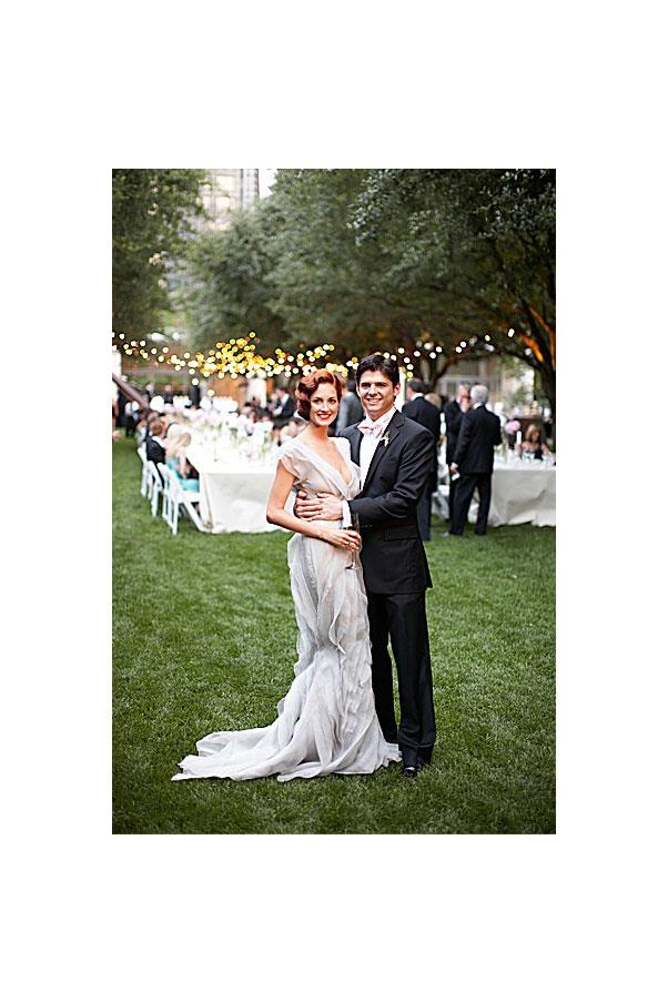 "<a href=""http://www.harpersbazaar.com.au/bazaar-brides/real-brides/2012/4/real-weddings-taylor-tomasi-hill/"">Taylor Tomasi Hill </a>, style consultant and ex-US <em>Vogue</em> market editor, wore J.Mendel."