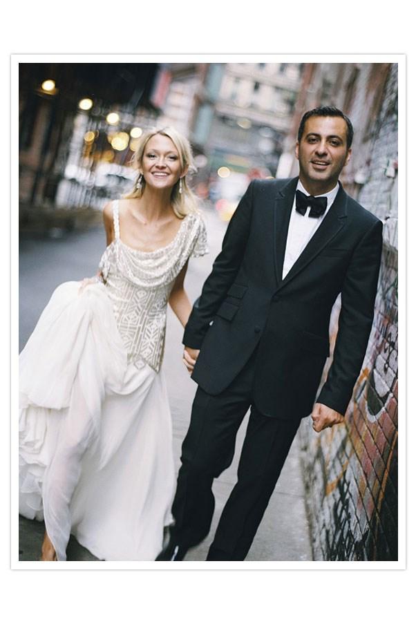 "<a href=""http://www.100layercake.com/blog/2010/01/14/real-wedding-zannamazdack/ "">Zanna Roberts Rassi </a>, senior fashion editor <em>Marie Claire</em>US and fashion correspondent, wore Marchesa."