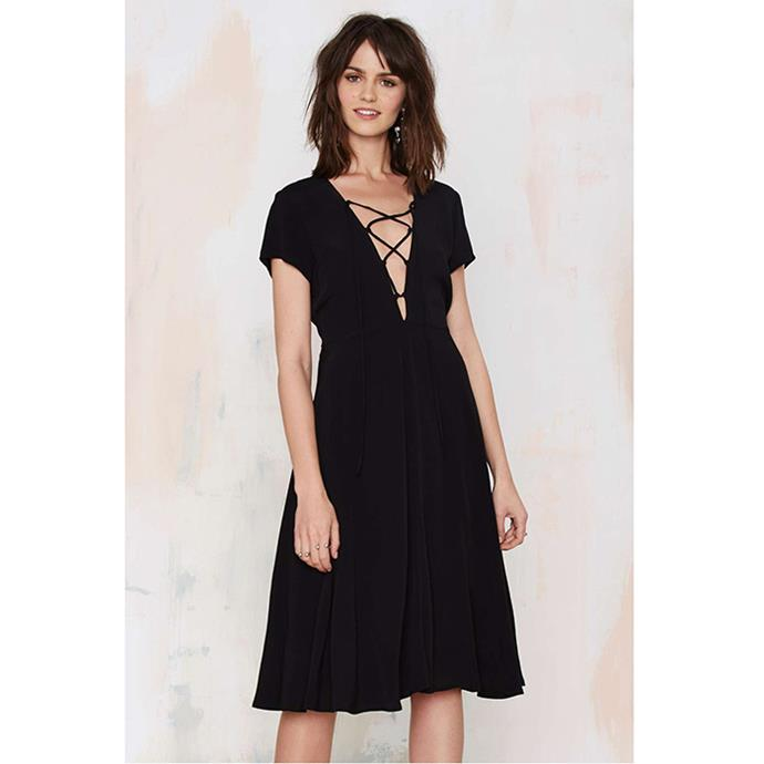 "Nasty Gal Wait & See Lace-Up Dress, $92.49 <br><a href=""http://www.nastygal.com.au/product/wait--see-laceup-dress"">NastyGal.com </a>"