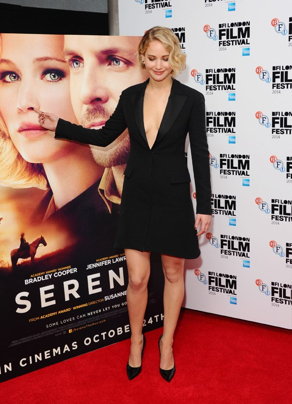 "At the ""Serena"" premiere, London, October 2014."