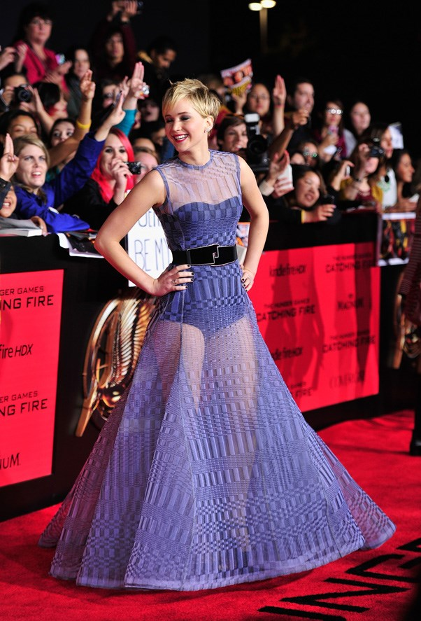 "At the premiere of ""The Hunger Games: Catching Fire"", Los Angeles, November 2013."