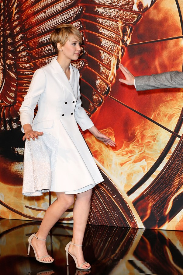 "At the premiere of ""The Hunger Games: Catching Fire"", Berlin, November 2013."
