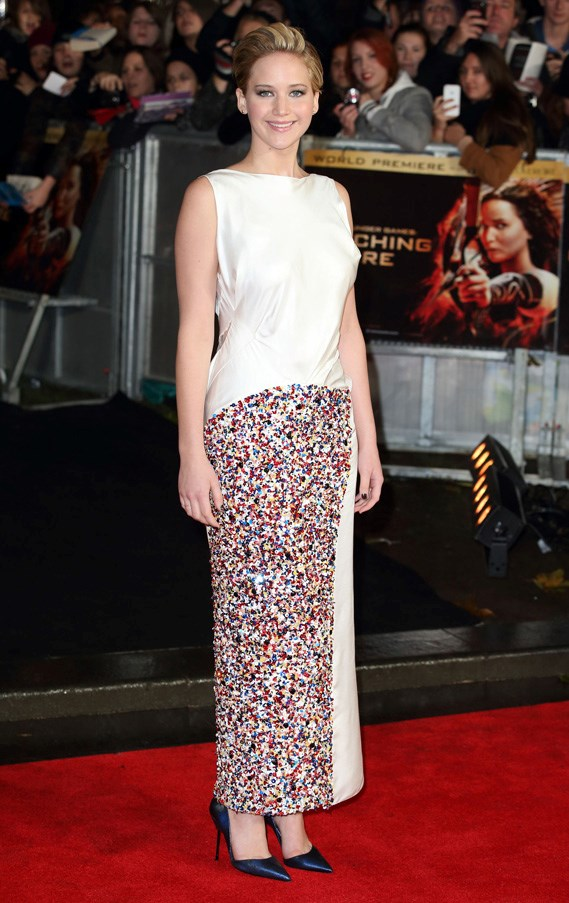 "At the premiere of ""The Hunger Games: Catching Fire"", London, November 2013."