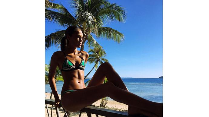 <strong>Joan Smalls</strong><br> @JoanSmalls making the most of Fiji's Instagrammable beaches.