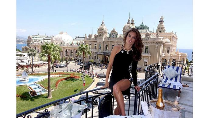 <strong>Alessandra Ambrosio</strong><br> @alessandraambrosio shares this glamorous picture postcard from Monaco.