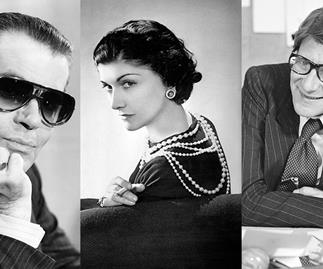 Karl Lagerfeld, Coco Chanel and Yves Saint Laurent