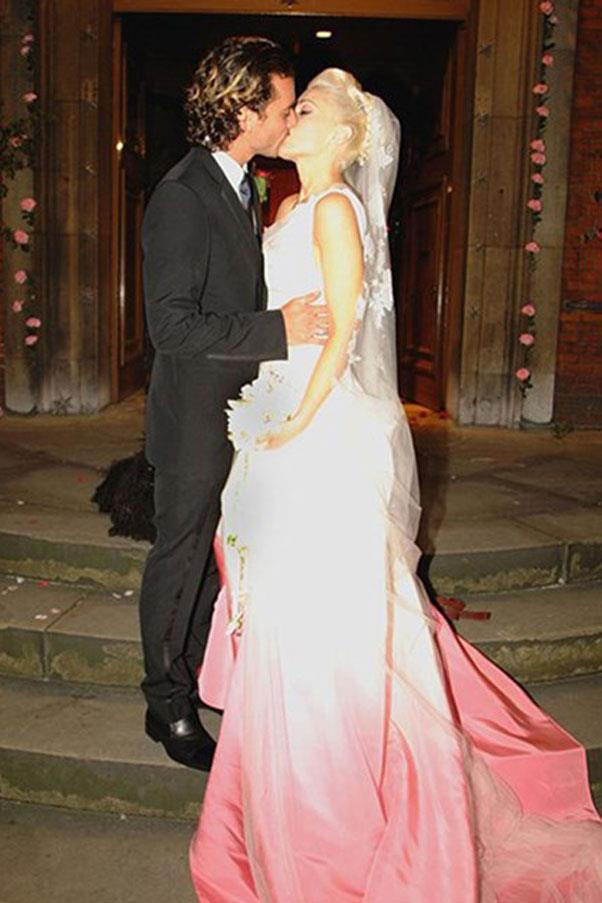Gwen Stefani wore John Galliano when she married Gavin Rossdale back in 2002.