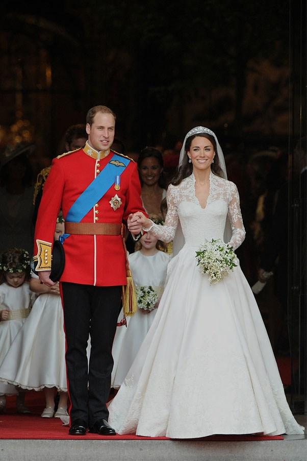 Kate Middleton wore a Sarah Burton-designed Alexander McQueen dress to marry Prince William.