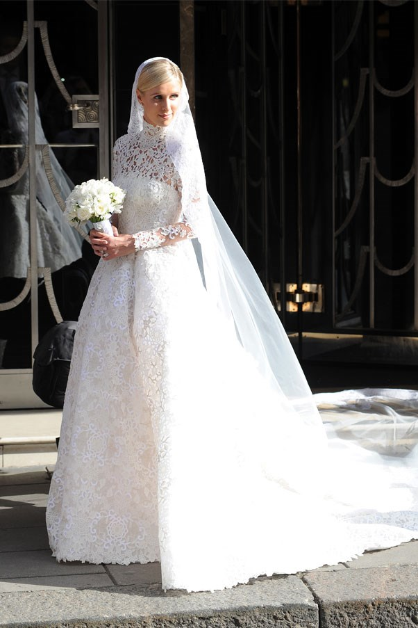 """Nicky Hilton married James Rothschild wearing a <a href=""""http://www.harpersbazaar.com.au/bazaar-brides/real-brides/2015/7/nicky-hilton-wedding-weekend/"""">Valentino</a> gown. Want more the details? We've got you."""