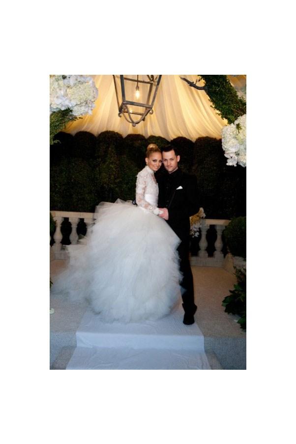 Nicole Richie wore Marchesa when she married Joel Madden.
