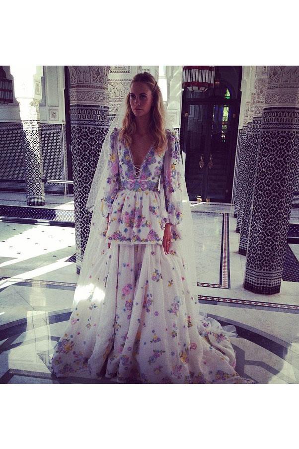 "<a href=""http://www.harpersbazaar.com.au/bazaar-brides/real-brides/2014/5/poppy-delevingne-second-wedding-marrakesh/"">Poppy Delevingne</a> wore a custom Emilio Pucci dress created by Pucci designer Peter Dundas for her second, Moroccan wedding."