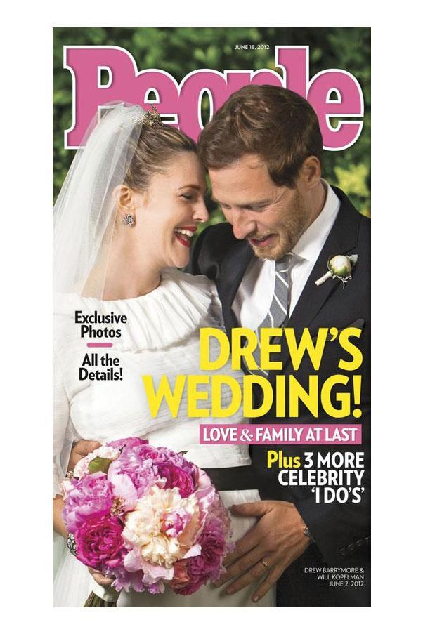 Drew Barrymore wed Will Kopelman in custom Chanel.