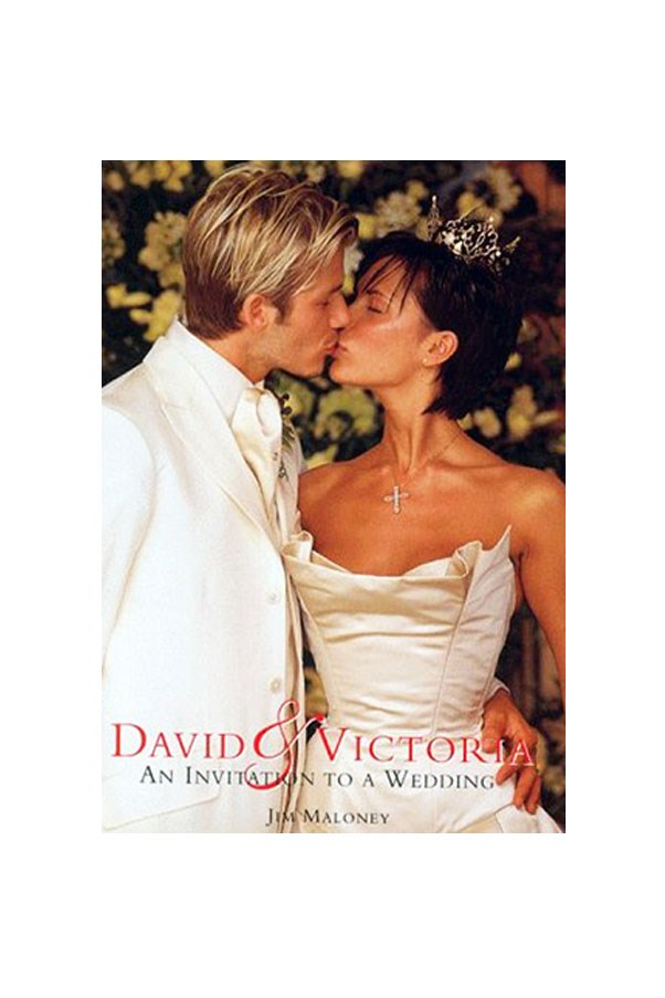 """Victoria Adams wore <a href=""""http://www.verawang.com/veraunveiled/2011/01/who-are-the-best-dressed-celebrity-brides-of-all-time/"""">Vera Wang</a> when she married David Beckham."""