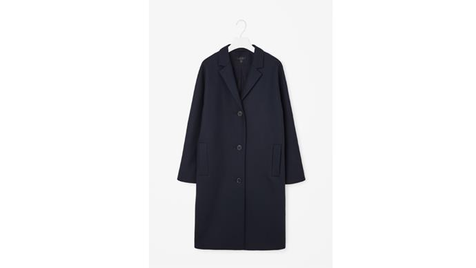 """<b>Clare Maclean, fashion features director: </b> <br><br> <em>COS always has timeless and affordable options</em> <br><br> COS wool coat, $411, from <a href=""""http://www.cosstores.com/gb/Women/Coats_Jackets"""">COS</a>"""