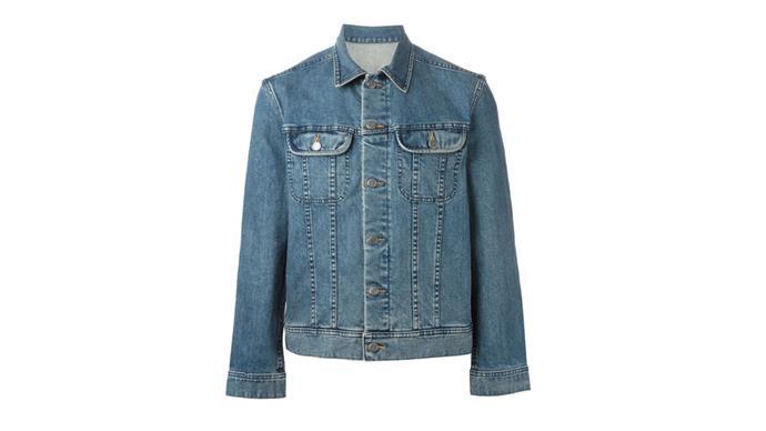 """<strong>Eliza O'Hare, associate editor: </strong> <br><br> <em>A boy's denim jacket</em> <br><br> A.P.C denim jacket, $380, from <a href=""""http://www.farfetch.com/au/shopping/men/apc-classic-denim-jacket-item-11121903.aspx?storeid=9638&ffref=lp_20_8_"""">Far Fetch</a>"""