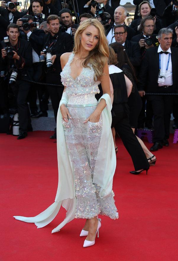 In Chanel, <em>Mr Turner</em> premiere at Cannes.
